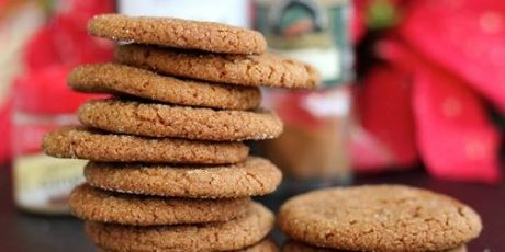 Homemade Gingersnap Cookies