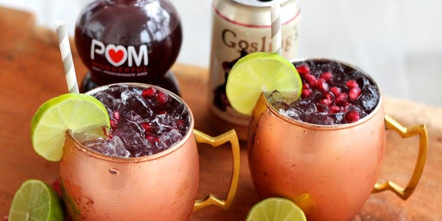 Pomegranate Moscow Mule Chef Blakely Trettenero Easy Cocktails