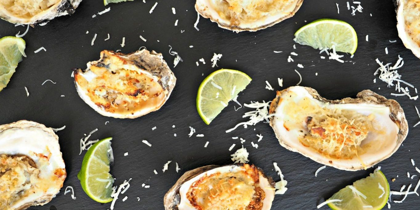 Key Lime Baked Oysters