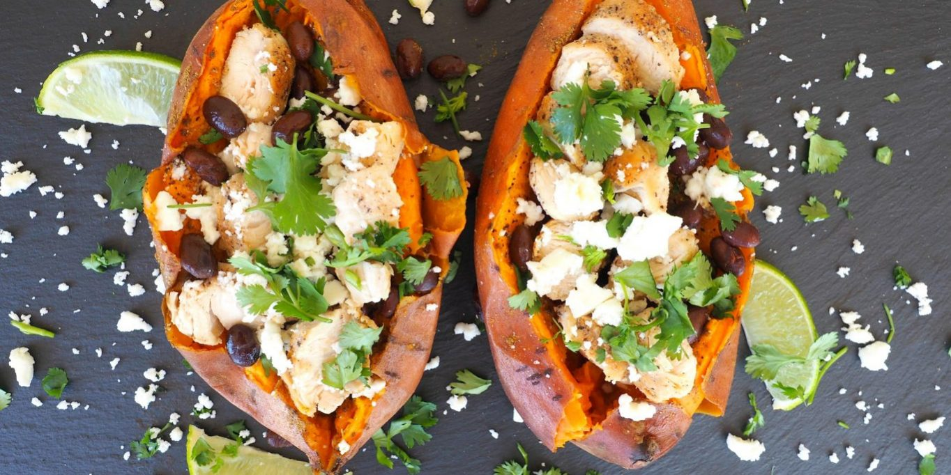 Stuffed Sweet Potato Everyday Gourmet With Blakely Healthy Dinners