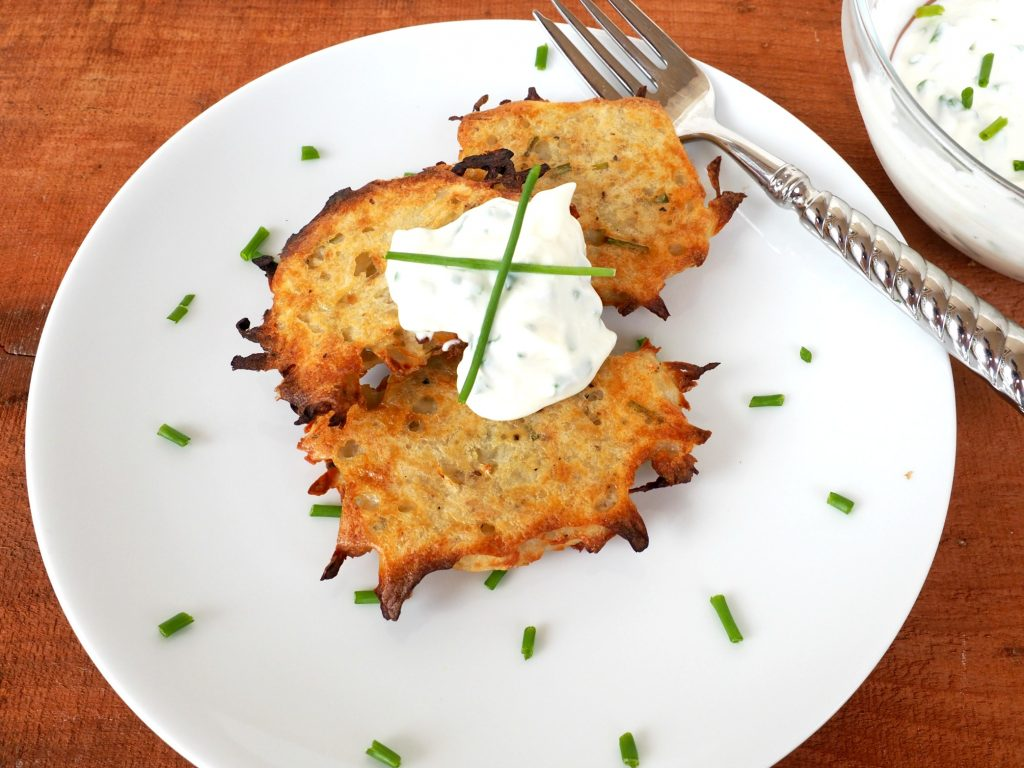 Baked potato pancakes everyday gourmet with blakely baked potato pancakes ccuart Choice Image