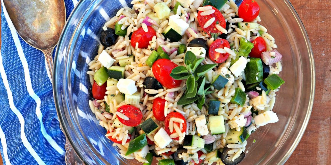 Orzo Pasta Salad Everyday Gourmet With Blakely Side Dish Recipes
