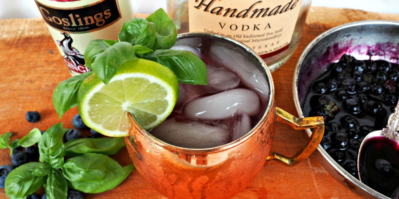 Blueberry Moscow Mule Everyday Gourmet With Blakely Cocktail Recipe