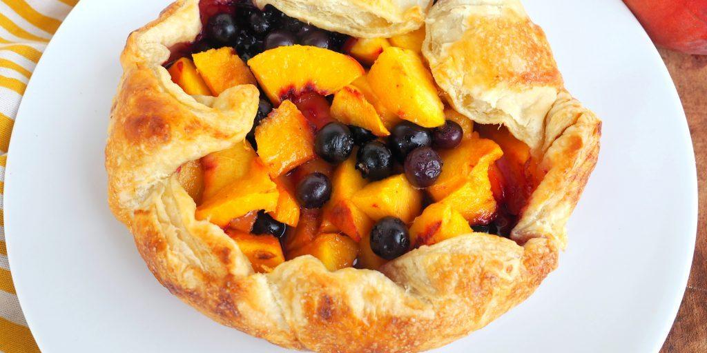 Peach Blueberry Galette Chef Blakely Trettenero Easy Dessert