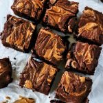 homemade brownies, easy brownie recipe, homemade brownies, how to make homemade brownies, swirl brownies, peanut butter swirl brownie recipe, homemade peanut butter brownies, peanut butter brownies recipe, dessert recipes, dessert baking easy, easy baking desserts, easy desserts, make ahead dessert recipes, make ahead peanut butter desserts, peanut butter dessert recipe,