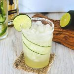cucumber cocktail, cocktail recipe with cucumber, margarita, how to make a margarita, homemade margarita recipe, quick margarita recipe, elderflower margarita, cocktail recipe using elderflower, elderflower cocktail recipes, elderflower tequila cocktail, tequila cocktail, tequila cocktail recipe, elderflower cucumber margarita