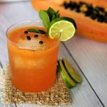 papaya cocktail recipe, easy papaya cocktail ideas, papaya recipes, cocktail recipes using papaya, tequila cocktail, tequila cocktail recipe, aperol tequila, aperol tequila papaya cocktail, easy cocktail recipes, tropical cocktail recipes