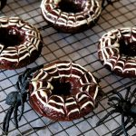 halloween breakfast, halloween breakfast ideas, easy halloween breakfast recipes, fun breakfast ideas for halloween, spooky breakfast recipe for halloween, breakfast recipes, baked doughnut, chocolate baked doughnuts, chocolate doughnuts, homemade doughnuts, yeast free doughnut recipe, baked doughnuts easy
