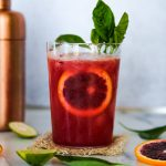 blood orange mocktail, mocktail recipe, easy mocktail recipe, quick mocktail recipe, blood orange drink, blood orange and basil, blood orange basil mocktail, non alcoholic drinks, dry january drinks