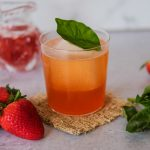 strawberry cocktail, basil cocktail, vodka cocktails for spring, spring inspired drinks, spring drinks, cocktails for spring, vodka drinks for spring, easy drinks for spring