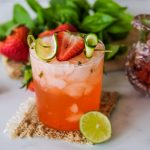 strawberry basil gin rickey, gin rickey, how to make a gin rickey, easy gin rickey recipe, gin cocktail recipe, gin cocktails, spring gin cocktails, gin and basil cocktail, gin cucumber cocktail,