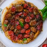 tomato and herb tart, easy tomato and herb tart, puff pastry tart, savory puff pastry tart, easy side dish recipe, tomato side dish recipe, puff pastry pie side dish recipe, side dish recipes, gourmet side dish recipe, tomato and herb recipes