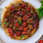 tomato and herb tart, easy tomato and herb tart, puff pastry tart, savory puff pastry tart, easy side dish recipe, tomato side dish recipe, puff pastry pie side dish recipe, side dish recipes, gourmet side dish recipe, tomato and herb recipes