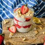 peanut butter chia seed pudding, healthy breakfast recipe, make ahead breakfast recipe, peanut butter jelly pudding, peanut butter jelly recipe, healthy breakfast recipe, chia seed pudding recipe, peanut butter chia seed pudding