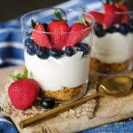 easy no bake dessert for 2, red white blue desserts,no bake mini cheesecakes, easy no bake mini cheesecake, 4th of july dessert, dessert recipe for 4th of july, quick desserts, quick no bake desserts, easy no bake desserts, individual desserts, dessert recipe for 2,