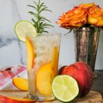 peach cocktail, peach gin and tonic, peach cocktails , peach cocktail recipe, cocktail recipe using peach, peach drinks, gin and peach drink, peach gin cocktail, summer cocktail, gourmet gin and tonic