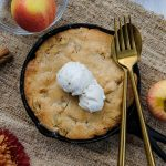 skillet apple cake, apple cake recipe, how to make apple cake, apple recipes, apple dessert recipes, dessert for two, easy dessert for two, fall dessert for two, autumn dessert for two, apple dessert for two