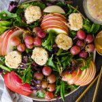 fall salad with grapes, fall salad with apples, fall salad with pear, fall inspired salad, autumn salad recipe, autumn salads, salad recipes for fall, salad recipes for autumn, roasted grapes, roasted grape recipes