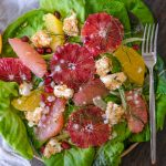 citrus salad, easy salad with citrus, easy salad recipe, flavorful salad recipes, flavorful salads for new year, blood orange salad recipe, blood orange recipes, grapefruit salad, salad with grapefruit, new years resolution recipes, shallot vinaigrette, champagne vinaigrette,