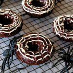 halloween breakfast, halloween breakfast ideas, easy halloween breakfast recipes, fun breakfast ideas for halloween, spooky breakfast recipe for halloween, breakfast recipes, baked doughnut, chocolate baked doughnuts, chocolate doughnuts, homemade doughnuts, yeast free doughnut recipe, baked doughnuts easy