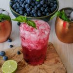 Moscow mule, how to make a Moscow mule, Moscow mule recipe, ginger beer cocktail, vodka cocktail with blueberry, blueberry basil cocktail recipe, spring cocktail, summer cocktail