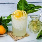 Meyer lemon and basil cocktail, easy Meyer lemon cocktail, lemonade cocktail, homemade lemonade, spiked lemonade, spiked lemonade cocktail, summer cocktail with lemon, lemon basil drink, basil gin cocktail