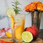 peach cocktail, peach gin and tonic, peach cocktails , peach cocktail recipe, cocktail recipe using peach, peach drinks, gin and peach drink, peach gin cocktail, summer cocktail, gourmet gin and tonic