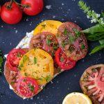 tomato sandwich, tomato sandwich recipe, open face tomato sandwich, tomato sandwich recipe, tomato toast recipe, tomato and ricotta toast, tomato and ricotta sandwich