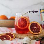 aperol spritz, how to make an aperol spritz, easy aperol spritz recipe, blood orange cocktail, cocktail recipe with blood orange, blood orange aperol, blood orange champagne, valentines day cocktail, cocktail recipe for valentines day, easy valentines day cocktail recipe,