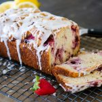 strawberry cake, strawberry buttermilk loaf, strawberry loaf cake, strawberry lemon cake, strawberry lemon bread, spring baking recipes, strawberry bread recipe, easy bread recipe, quick bread recipe